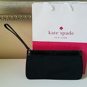 Kate Spade wristlet black nylon